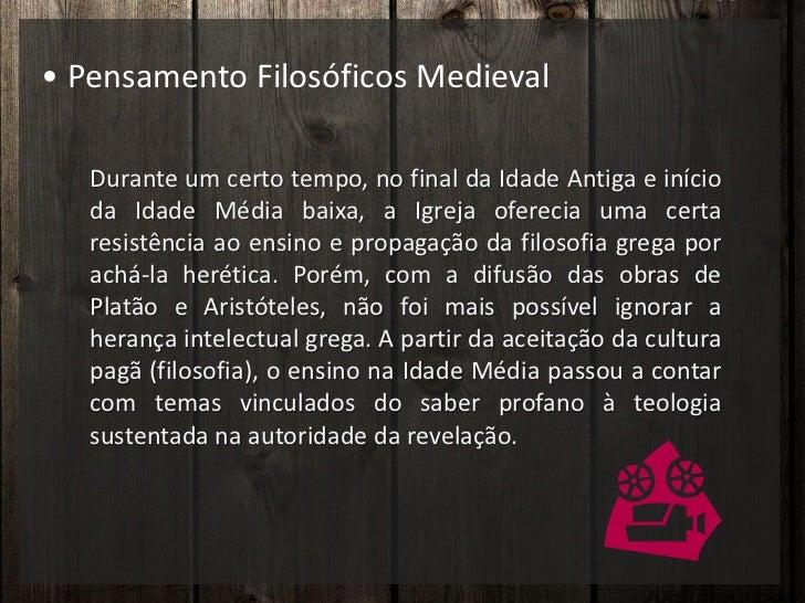 Pensamento Filosófico Medieval ... 7fc4423f3557e