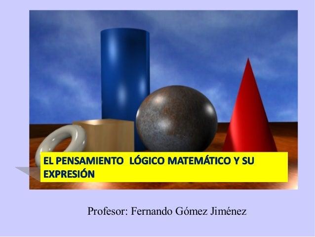 Profesor: Fernando Gómez Jiménez