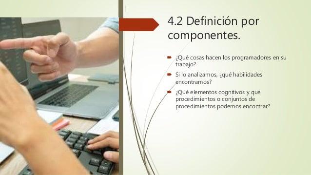 Componentes del pensamiento computacional Necesidad de contar con un corpus curricular y con una relación de habilidades ...