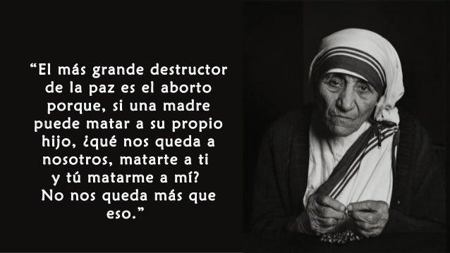 Resultado de imagen para imagenes aborto madre teresa
