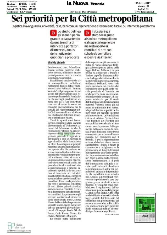 06-GIU-2017 da pag. 23 foglio 1 / 2 Dir. Resp.: Paolo Possamai www.datastampa.it Lettori Ed. II 2016: 127.000 Diffusione 1...