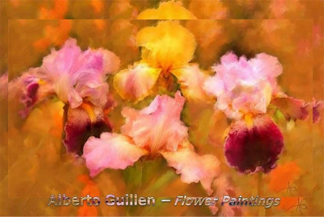 Pensiero D'amore  (Alberto Guillen's flower paintings)  Slide 3