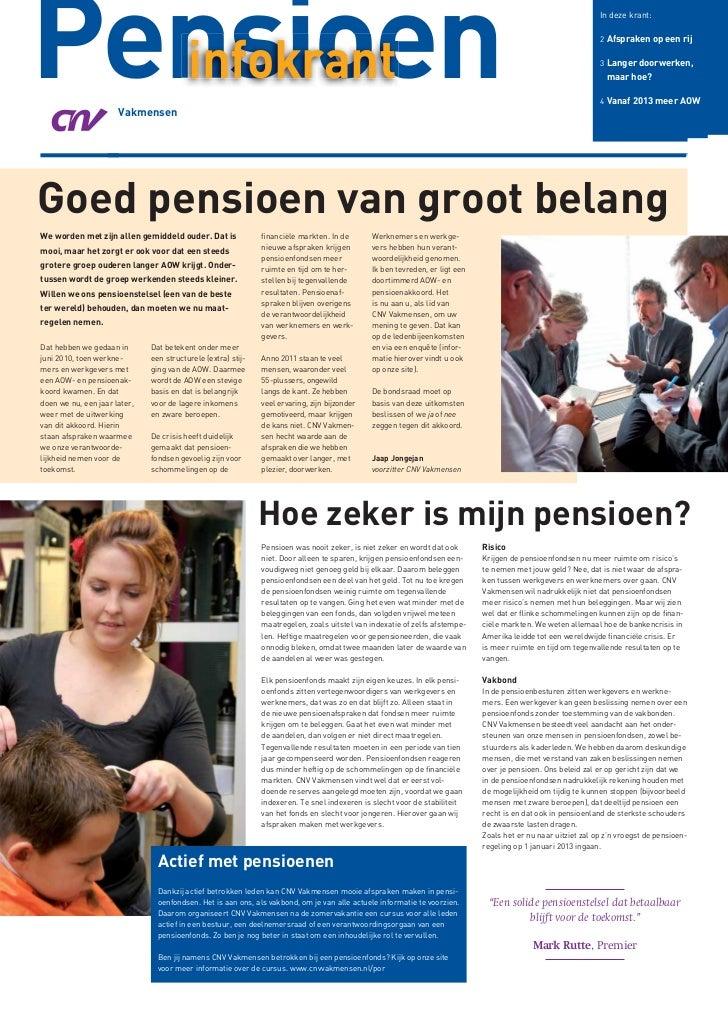 Pensioen  infokrant                      Vakmensen                                                                        ...