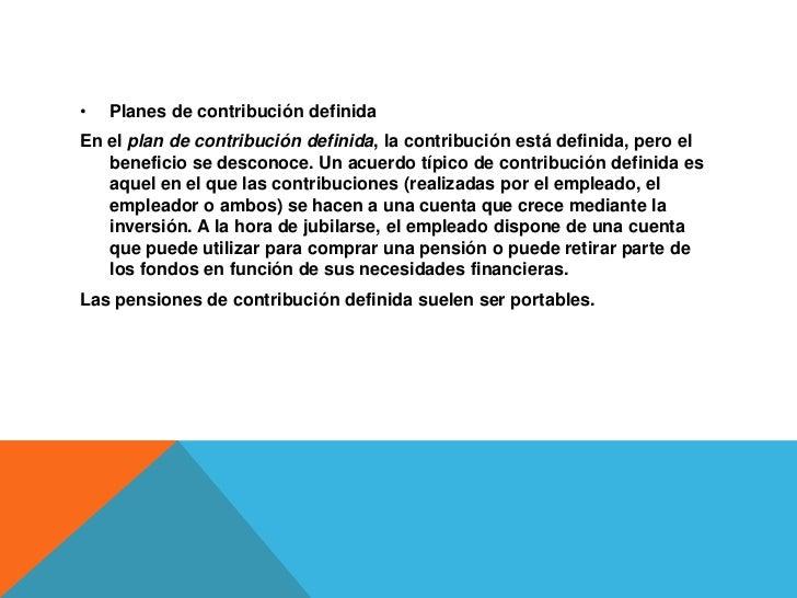 TIPOS DE PENSIONESPensiones contributivaseo o subsidio de desempleoPensión no contributiva Prestación no contributiva Pe...