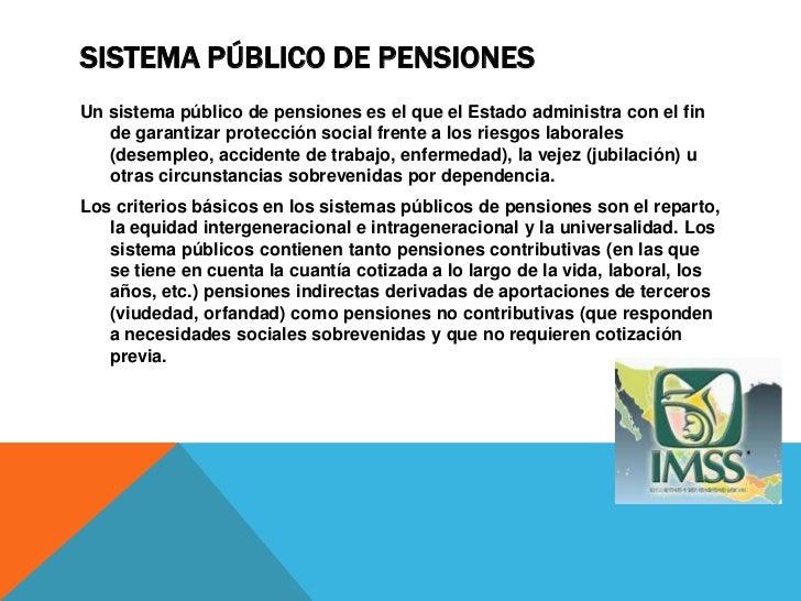 SISTEMA PRIVADO DE PENSIONESLa respuesta de los sistemas privados de pensiones responden exclusivamente    a la capitaliza...
