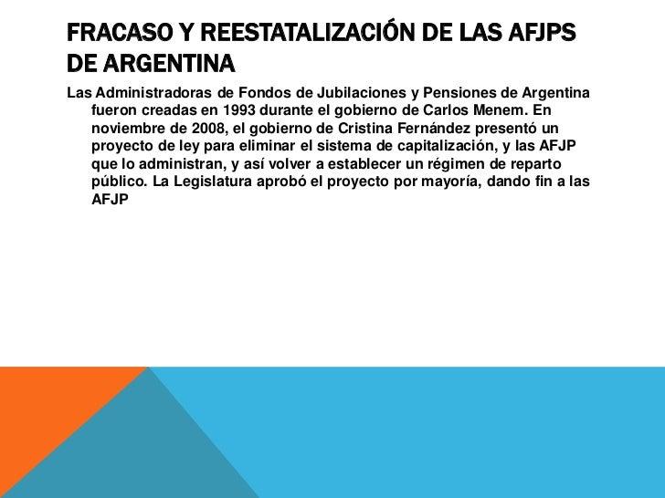 FRACASO DE LAS AFPS EN CHILEEn América Latina la privatización de los sistemas públicos de pensiones tuvo su    antecedent...