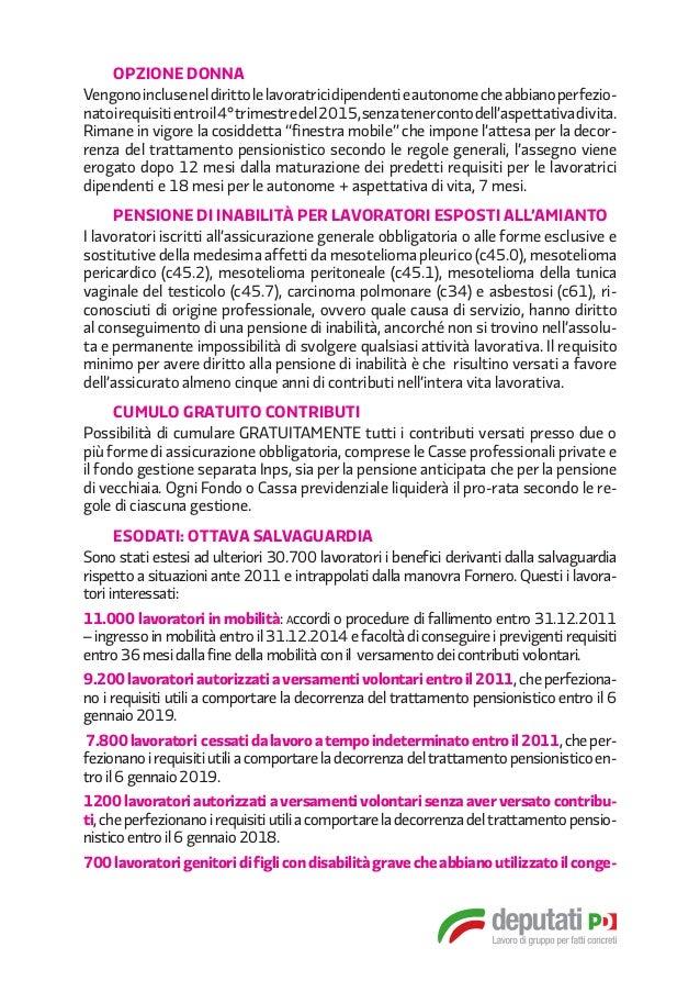 Pensioni 10 passi in avanti - Finestra mobile pensione ...