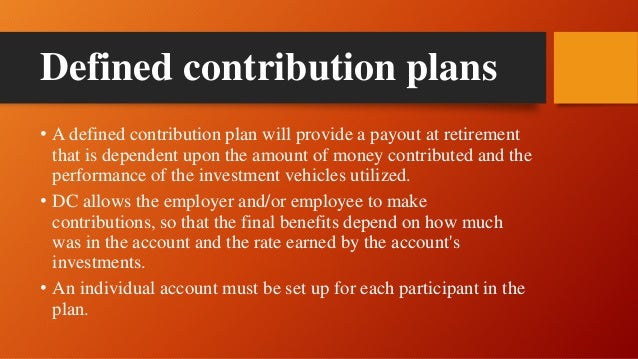 Defined Contribution Plan vs Defined Benefit Plan: What's ... |Contribution Plan