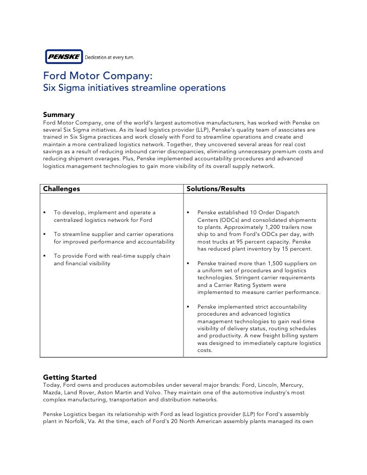 case study on ford and motor At ford, turnaround is job one menu  at ford, turnaround is job one case study james shein  the case opens with the ford motor company seemingly on the path.