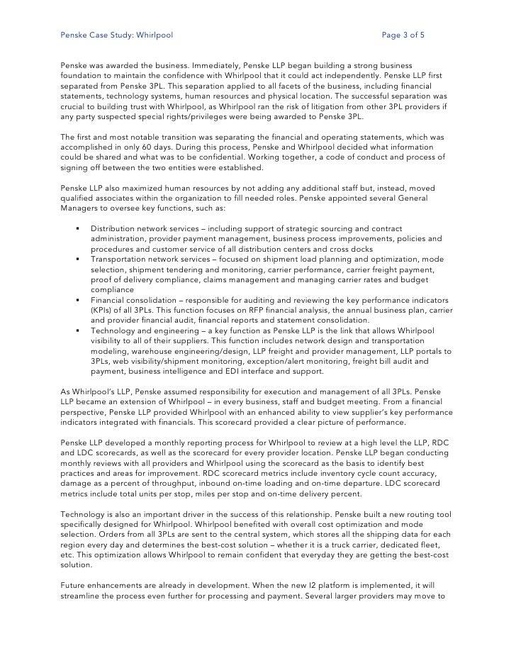Whirlpool Europe Harvard Case Solution & Analysis