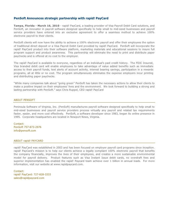 PenSoft/ rapid! Paycard partnership