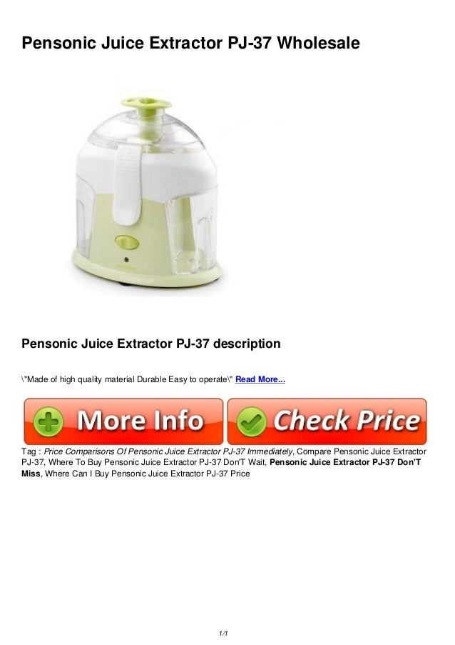 "Pensonic Juice Extractor PJ-37 Wholesale Pensonic Juice Extractor PJ-37 description ""Made of high quality material Durable..."