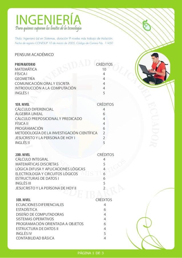 PENSUM ACADÉMICO PREPARATORIO CRÉDITOS MATEMÁTICA 10 FÍSICA I 4 GEOMETRÍA 4 COMUNICACIÓN ORAL Y ESCRITA 4 INTRODUCCIÓN A L...