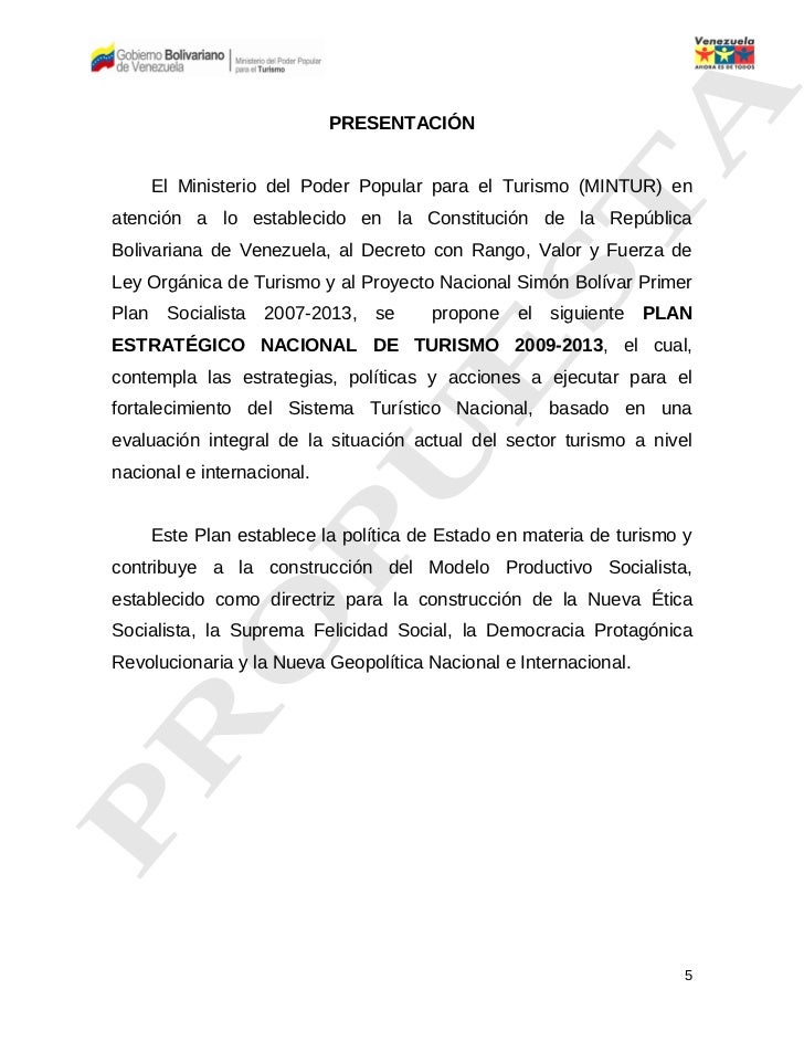 Plan estrat gico nacional de turismo 2009 2013 for Ministerio del turismo