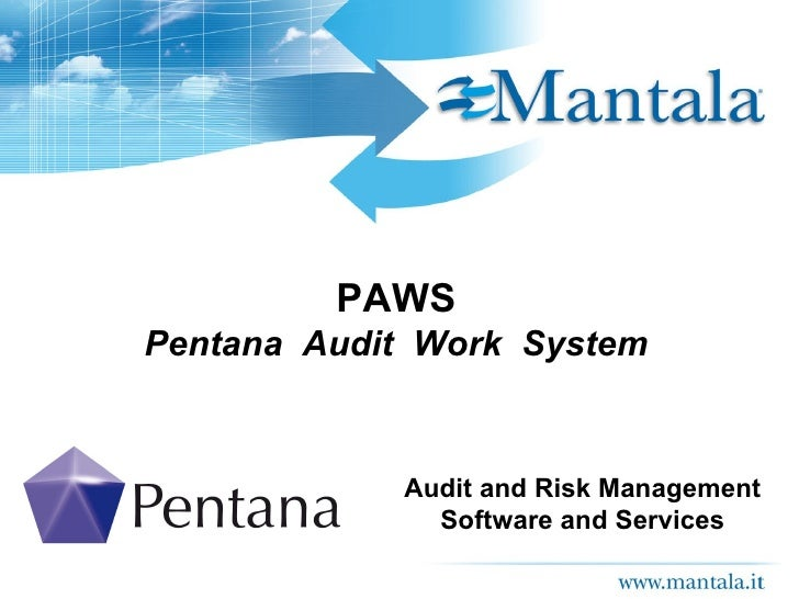 PAWS Pentana  Audit  Work  System Audit and Risk Management Software and Services