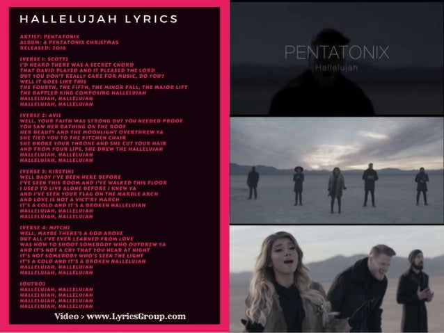 pentatonix hallelujah lyrics hallelujah songs lyrics to hallelujah - Christmas Hallelujah Lyrics