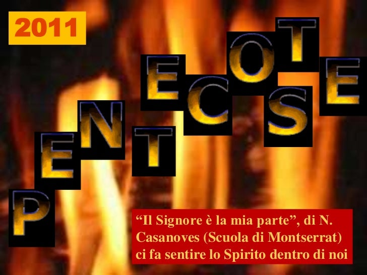 """2011<br />""""Il Signore è la mia parte"""", di N. Casanoves (Scuola di Montserrat) ci fa sentire lo Spirito dentro di noi <br />"""