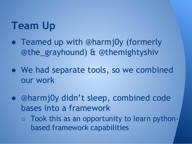 "Veil 2.0  ● Fully modular framework  ○ drag-and-drop payloads!  ● ""Language agnostic""  ○ implement additional language fam..."