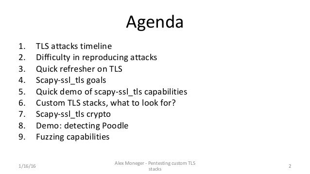 Pentesting custom TLS stacks Slide 3
