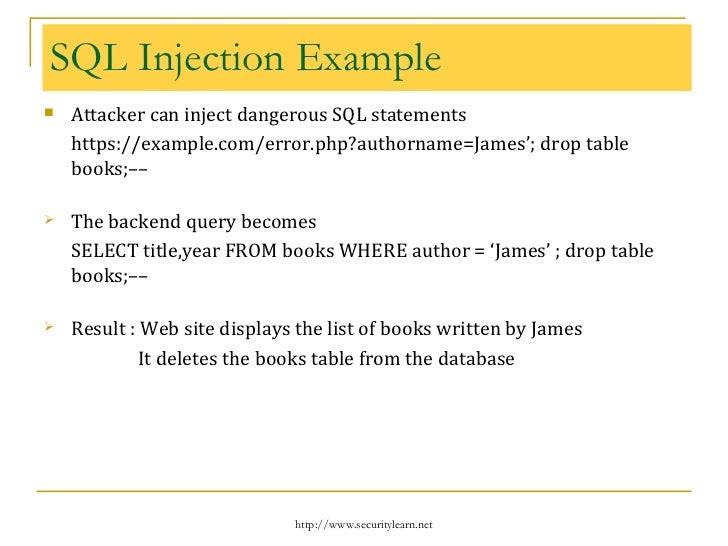 Pentesting web applications - Sql injection drop table example ...