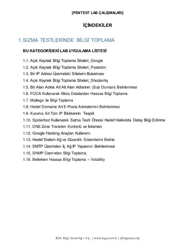 SIZMA TESTLERİNDE BİLGİ TOPLAMA Slide 2