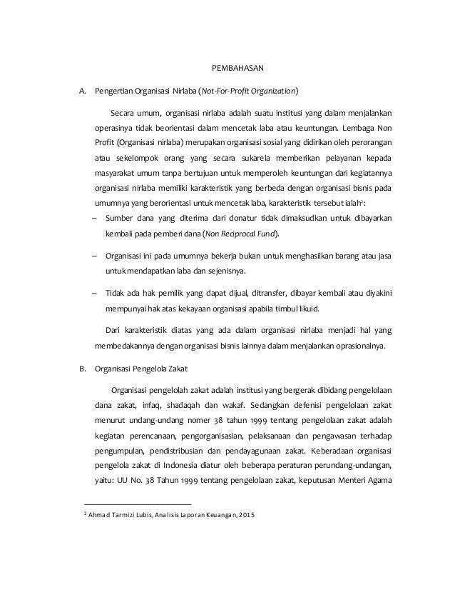 Pentingnya Laporan Keuangan Pada Organisasi Non Profit