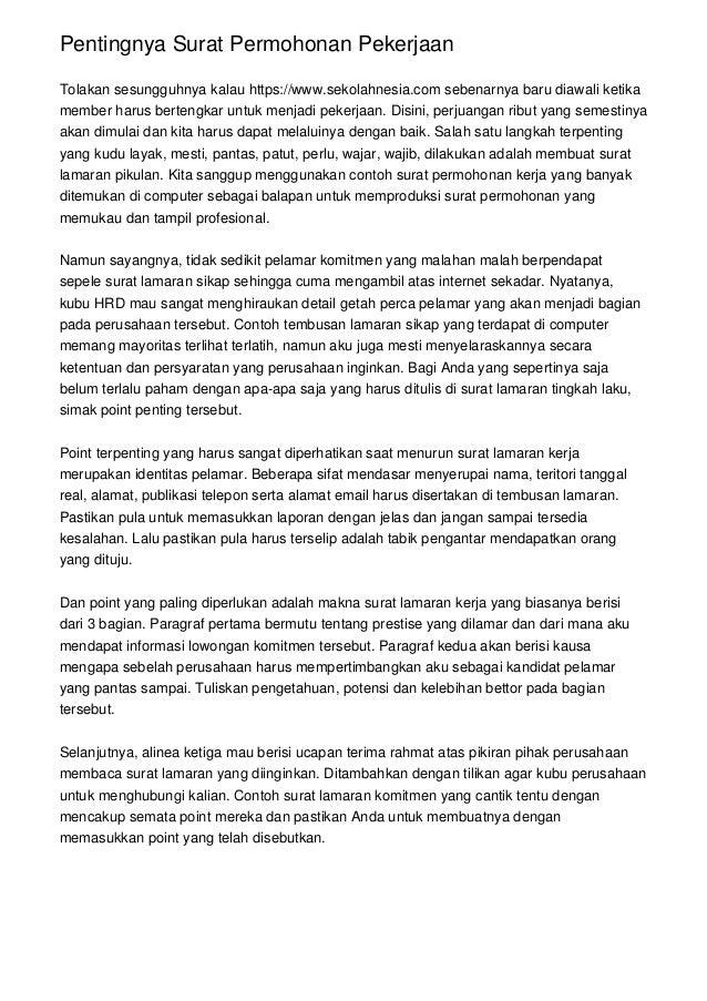Pentingnya Surat Permohonan Pekerjaan Tolakan sesungguhnya kalau https://www.sekolahnesia.com sebenarnya baru diawali keti...