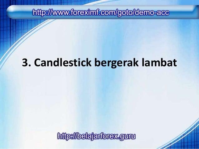 Perlambatan candlestick adalah  kebalikan dari antusiasme, ada  keraguan dari para trader untuk  membuka posisi perdaganga...