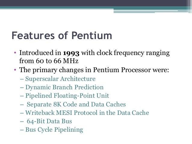 Pentium processor Slide 2