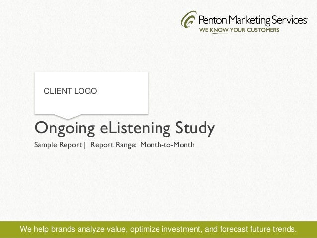 We help brands analyze value, optimize investment, and forecast future trends. Sample Report | Report Range: Month-to-Mont...