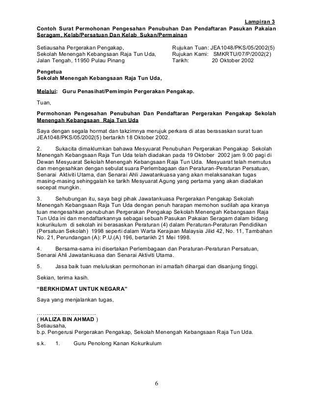contoh surat rasmi sekolah menengah contoh raffa