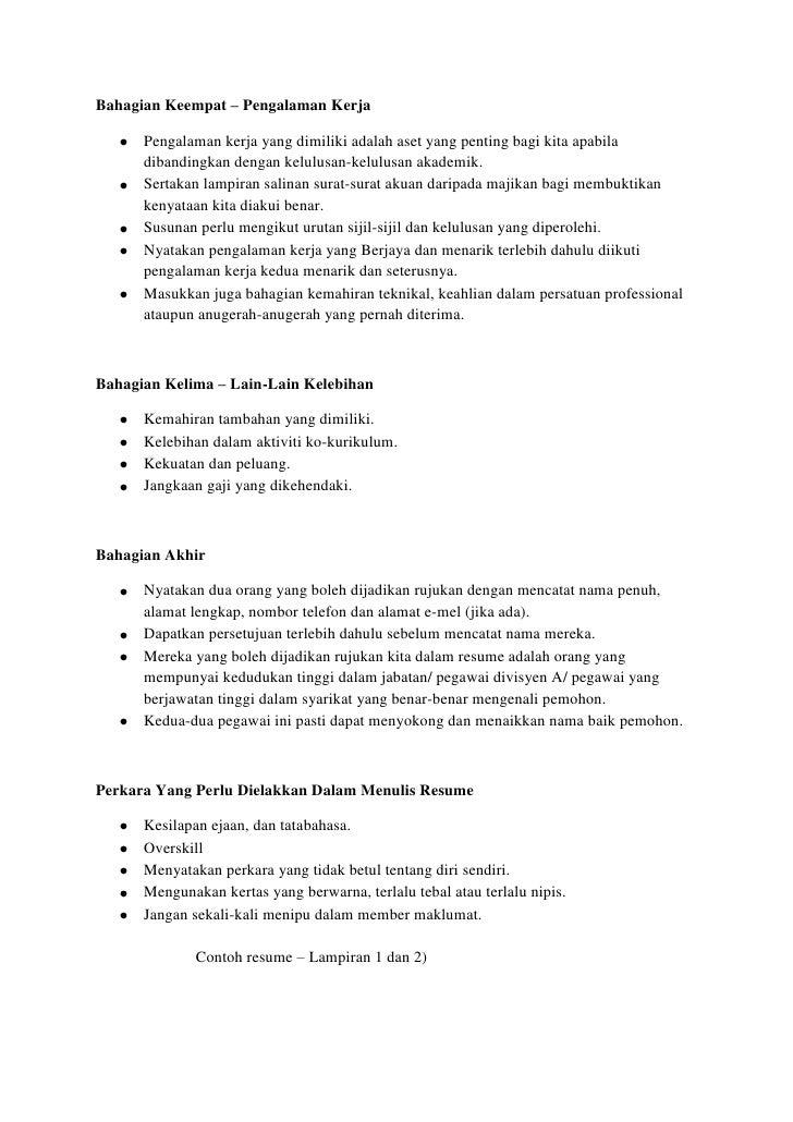 penulisan resume