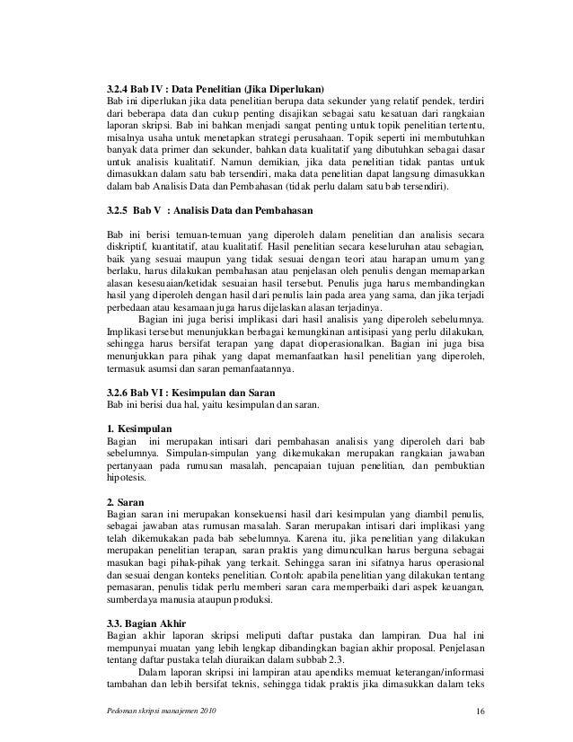 Contoh Skripsi Manajemen Bab 4 Dan 5