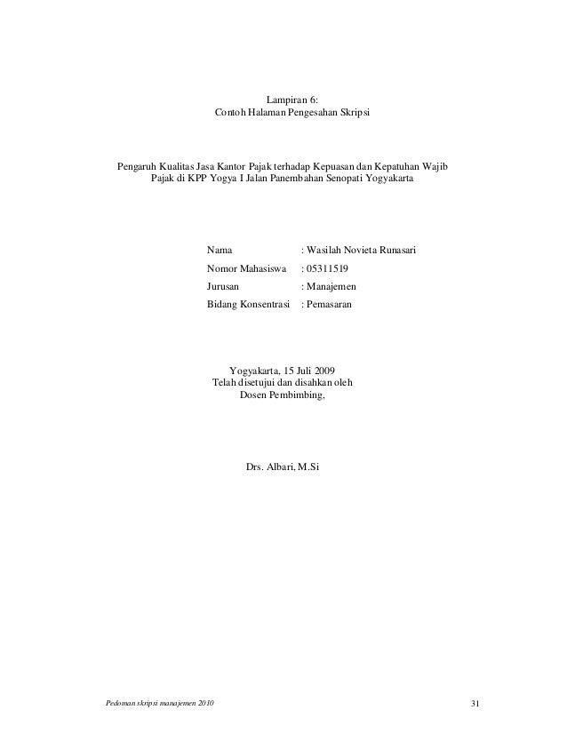 Penulisan Skripsi S1 Manajemen Uii