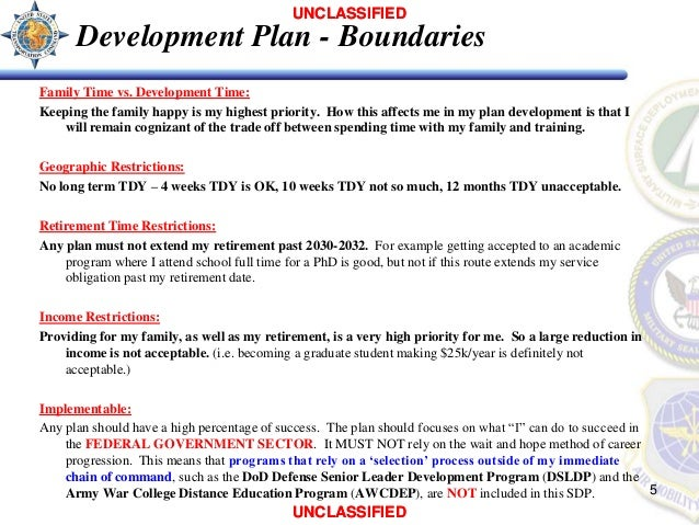 Individual Development Plan - David Penwell