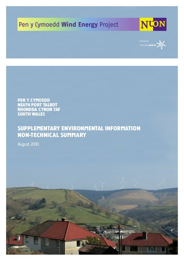 natural power prepared by PEN Y CYMOEDD NEATH PORT TALBOT RHONDDA CYNON TAF SOUTH WALES Supplementary Environmental Inform...