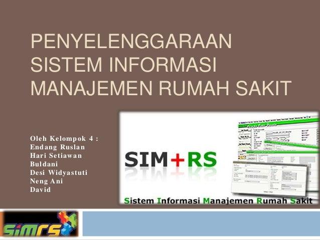penyelenggaraan sistem informasi manajemen rumah sakit 1 638
