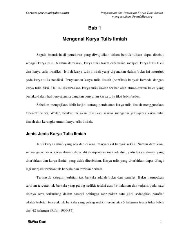 Contoh Bab 3 Karya Tulis Ilmiah Bagikan Contoh