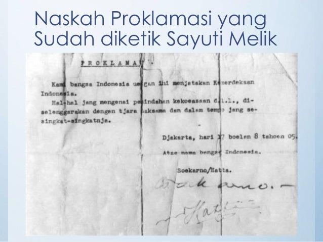 Penyusunan Naskah Proklamasi Kemerdekaan Indonesia
