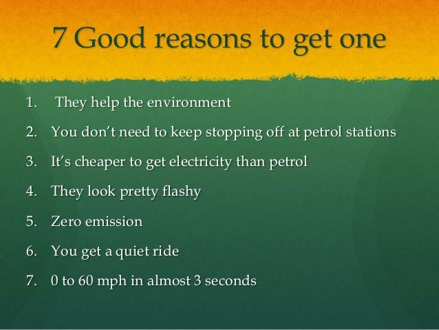 Why To Go Eco Part Electric Cars Are Awesome