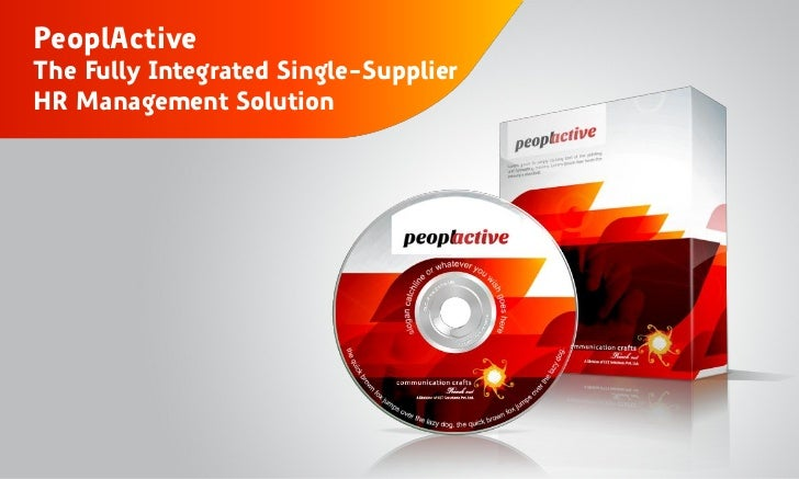 PeoplActiveThe Fully Integrated Single-SupplierHR Management Solution