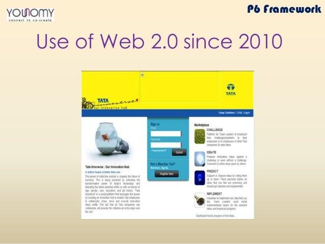 Use of Web 2.0 since 2010 P6 Framework