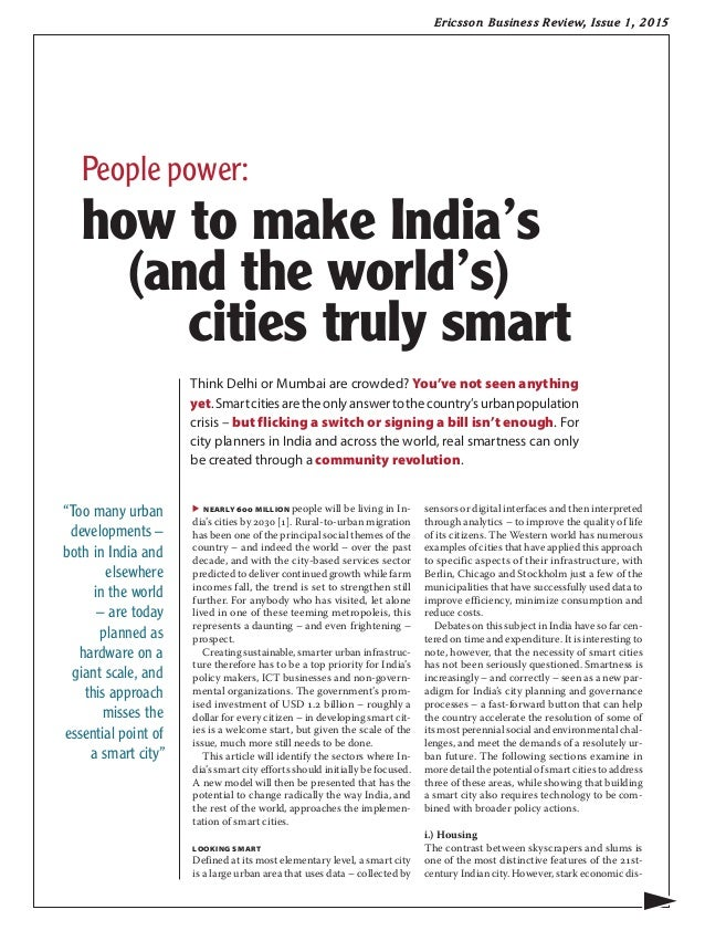 Smart Living Company Reviews : Ericsson Business Review: People power: how to make India ...