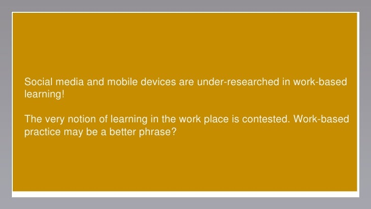 """contectual factors informal learning workplace Read contextual factors influencing informal learning in a workplace setting: the case of """"reinventing itself company"""", human resource development quarterly on deepdyve, the largest online."""