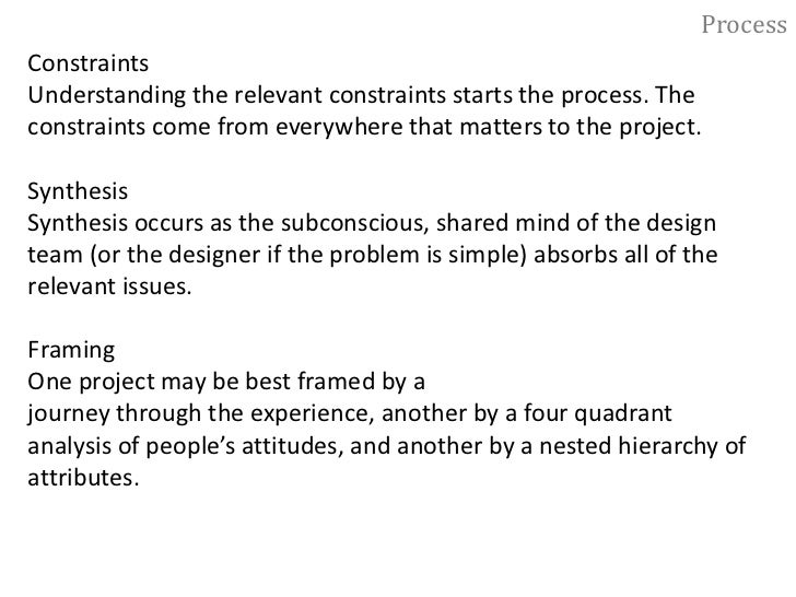 Process<br />Elements of the Design Process<br />