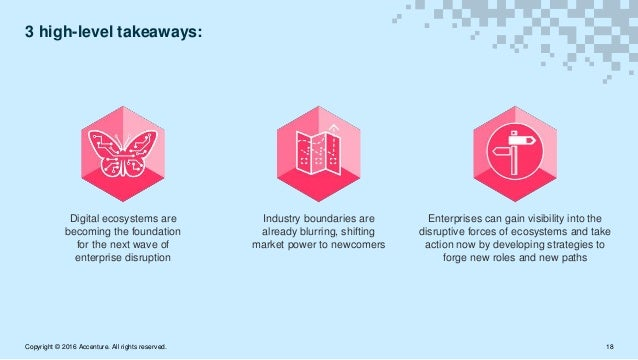 3 high-level takeaways: Industry boundaries are already blurring, shifting market power to newcomers Digital ecosystems ar...
