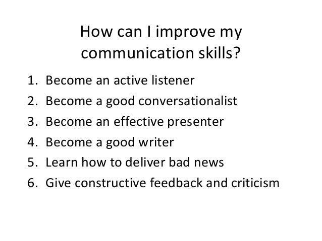 my communication skills
