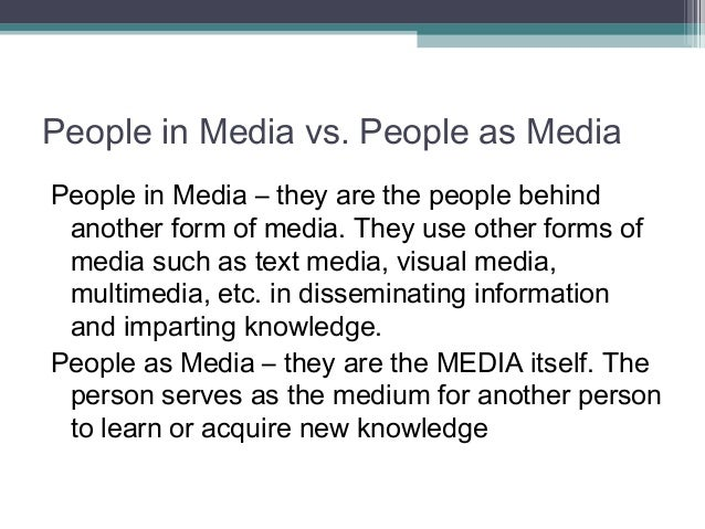 the influence of mass media on people The mass media and the social networks can provoke serious problems in  the  mass media influence the children and young people.