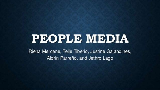 PEOPLE MEDIA Riena Mercene, Telle Tiberio, Justine Galandines, Aldrin Parreño, and Jethro Lago