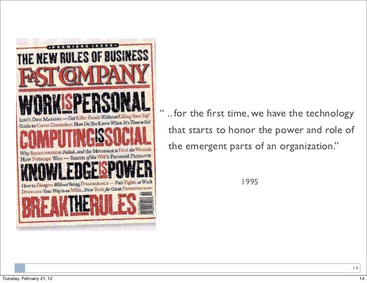 """"""" .. for the first time, we have the technology                             that starts to honor the power and role of     ..."""